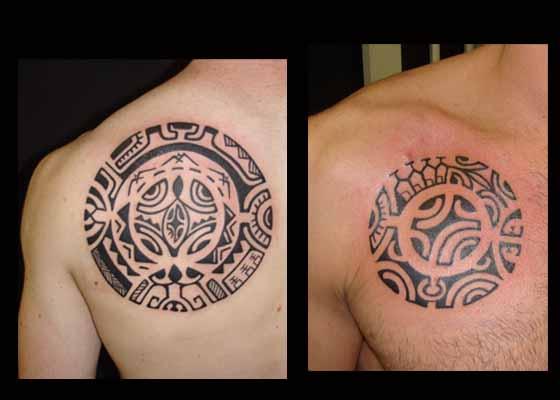 tatouage polynesien polynesian tattoo cercles. Black Bedroom Furniture Sets. Home Design Ideas