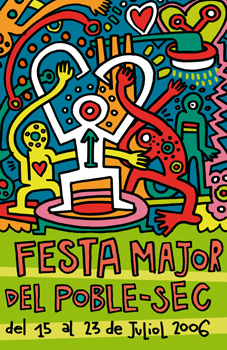 "Cartel ""Festa Major de Poble Sec 06"""