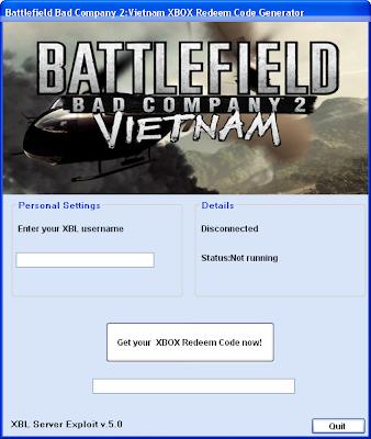 Multi Hacks: Battlefield Bad Company 2 Vietnam XBOX Redeem ...