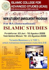 Penerimaan Mahasiswa Baru S-1 Islamic Studies