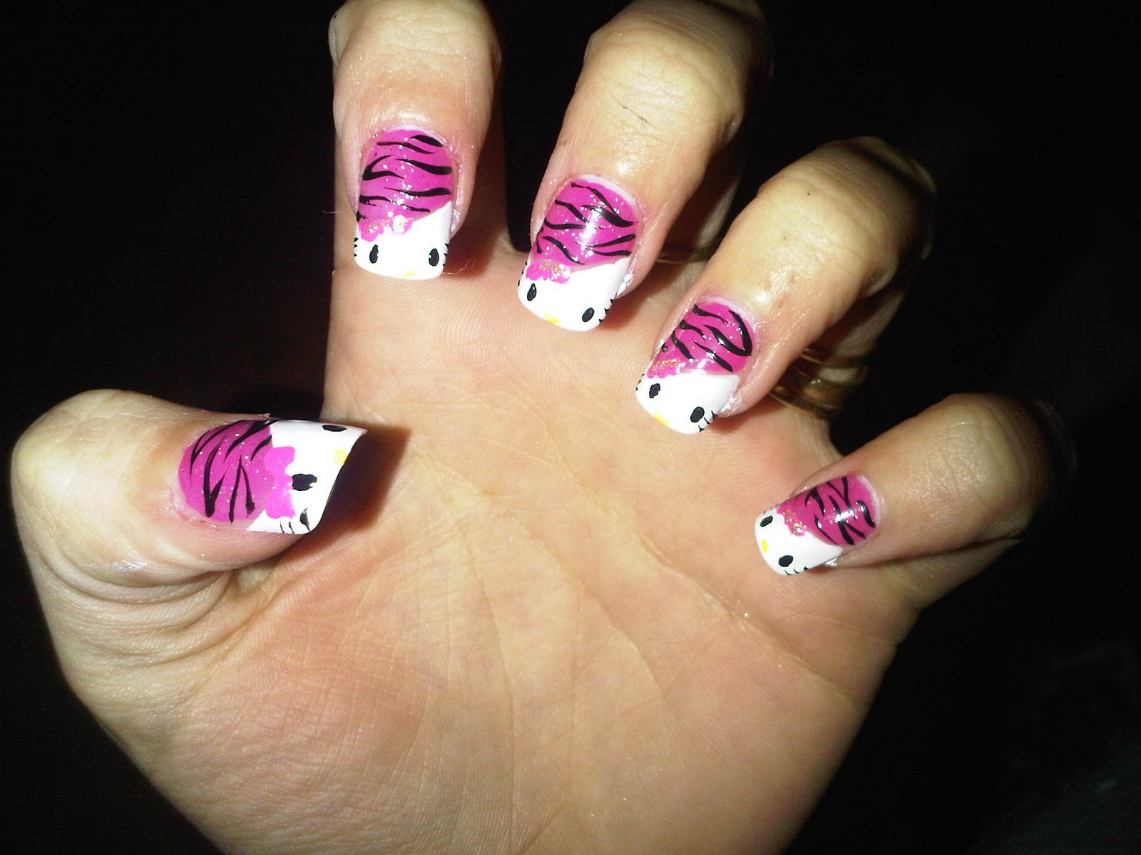 Pictures Of Hello Kitty Nail Designs | Nail Designs, Hair ...