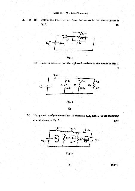Anna University Question Bank Circuit Analysis