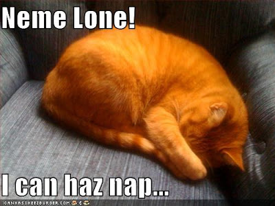 Neme lone, I can haz nap...