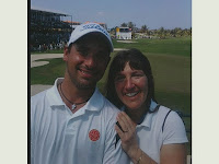 Stacy with Puerto Rican golfer Rafael Campos
