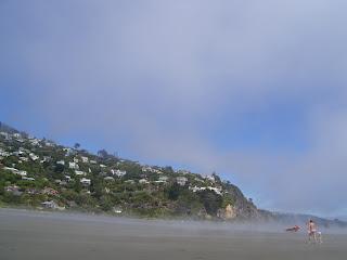 ニュージーランド クライストチャーチ サムナビーチ写真