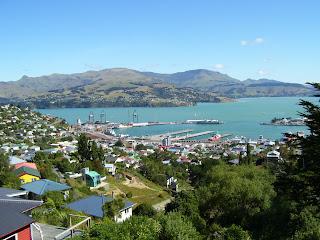 ニュージーランド 上から見たサムナビーチ写真