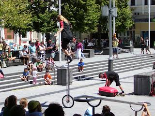 クライストチャーチ ニュージーランド 大道芸 写真 画像