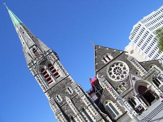 ニュージーランド クライストチャーチ 天気回復傾向 写真 画像