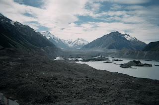 ニュージーランド画像 マウントクック タスマン氷河 写真 旅行 観光名所