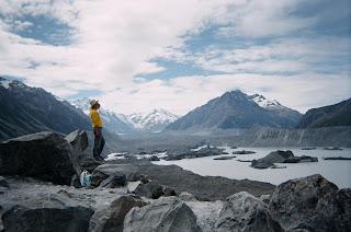 ニュージーランド画像 マウントクック タスマン氷河 写真 旅行