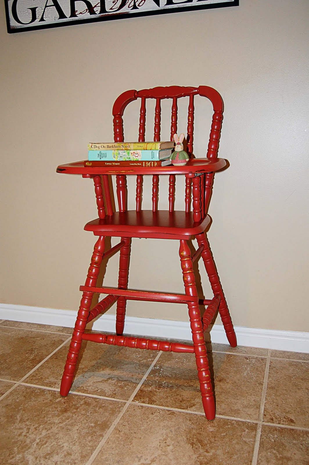 Wooden High Chair The Frosted Gardner The Hoffman High Chair Custom