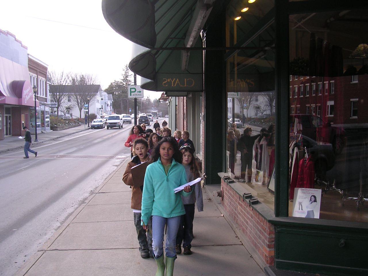Red Cedar School ~ Red cedar school students bid farewell to the