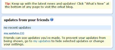 Orkut Updates