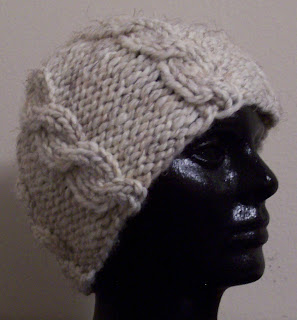 Carissa Knits  Chunky Cabled Hat 4acf14a70e6