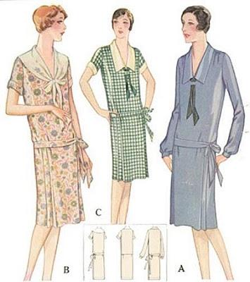 1920s dress patterns plus size
