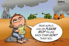 É preciso acabar com a guerra no mundo!!