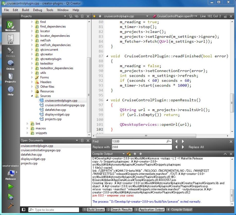 Code Gardening: Qt Creator: A multiplatform IDE for creating