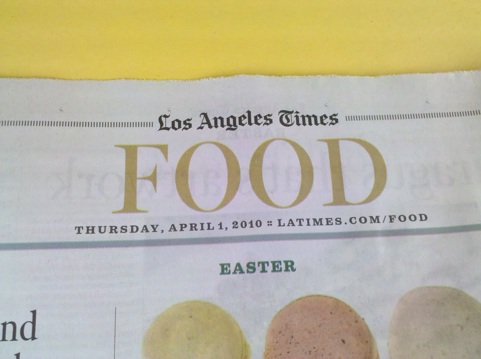 Los Angeles Times Food Section Recipes