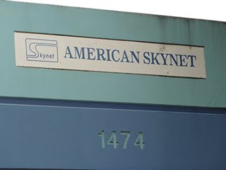 Business sign for American Skynet.