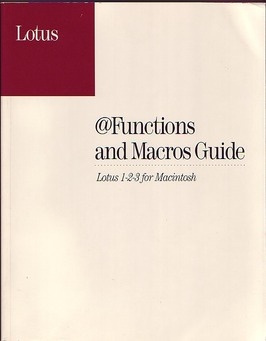 User Manual for Lotus 123 for Macintosh
