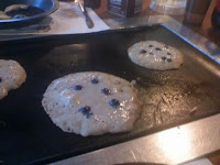 More pancakes on the griddle