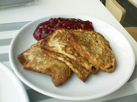 Swedish pancakes with lingonberry sauce