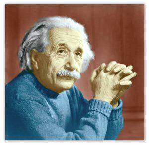 アインシュタインをカラー写真にしてみた