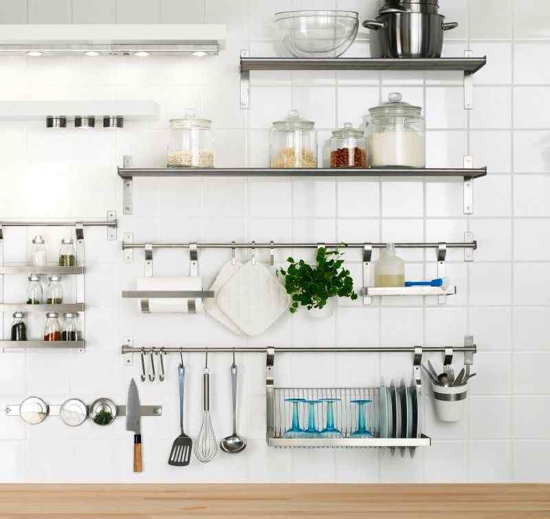 Attrayant Stainless Steel Kitchen Wall Shelves