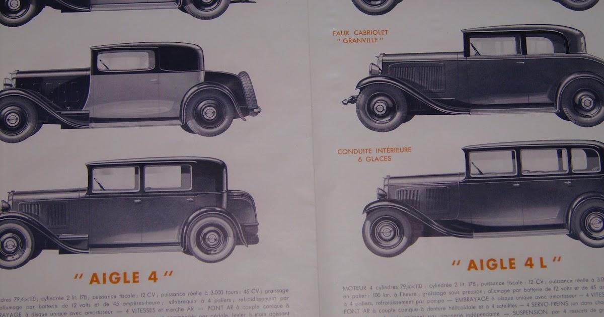 vieux papiers chenard et walcker  prospectus 1933 aiglon