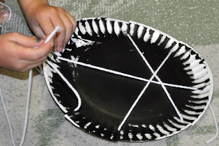 3) Tape a long piece of yarn to the back of the plate. Weave it across and around the plate to form a spider web. & Paper Plate Spider Web - Kids Activities | Saving Money | Home ...