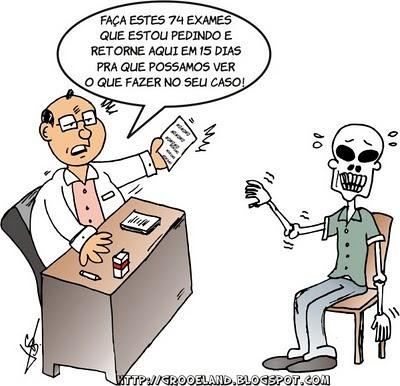 Resultado de imagem para caricatura de um consultório medico lotado