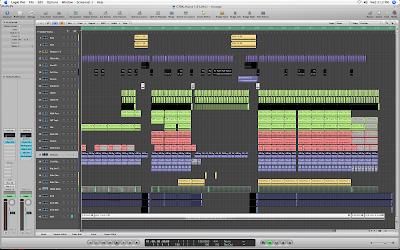 DJ Rap session arrangement in Apple Logic Pro 8