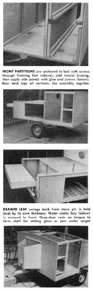 Truck Camper Plans Build Yourself: Vintage Teardrop Trailer Campers Chuck Wagon Plans: Chuck