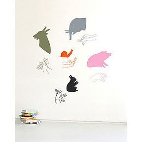 peppermags: Accessory: Animal Shadow Wall Decals