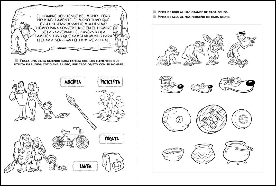 Dibujos De Prehistoria Para Ninos Para Colorear: Prehistoria Colorear