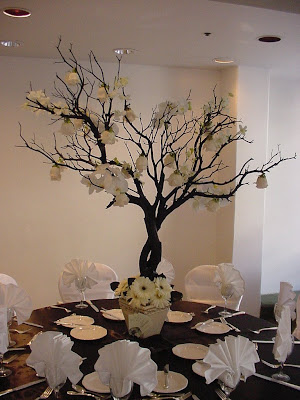 am going for branch centerpieces for both the buffet tables and the