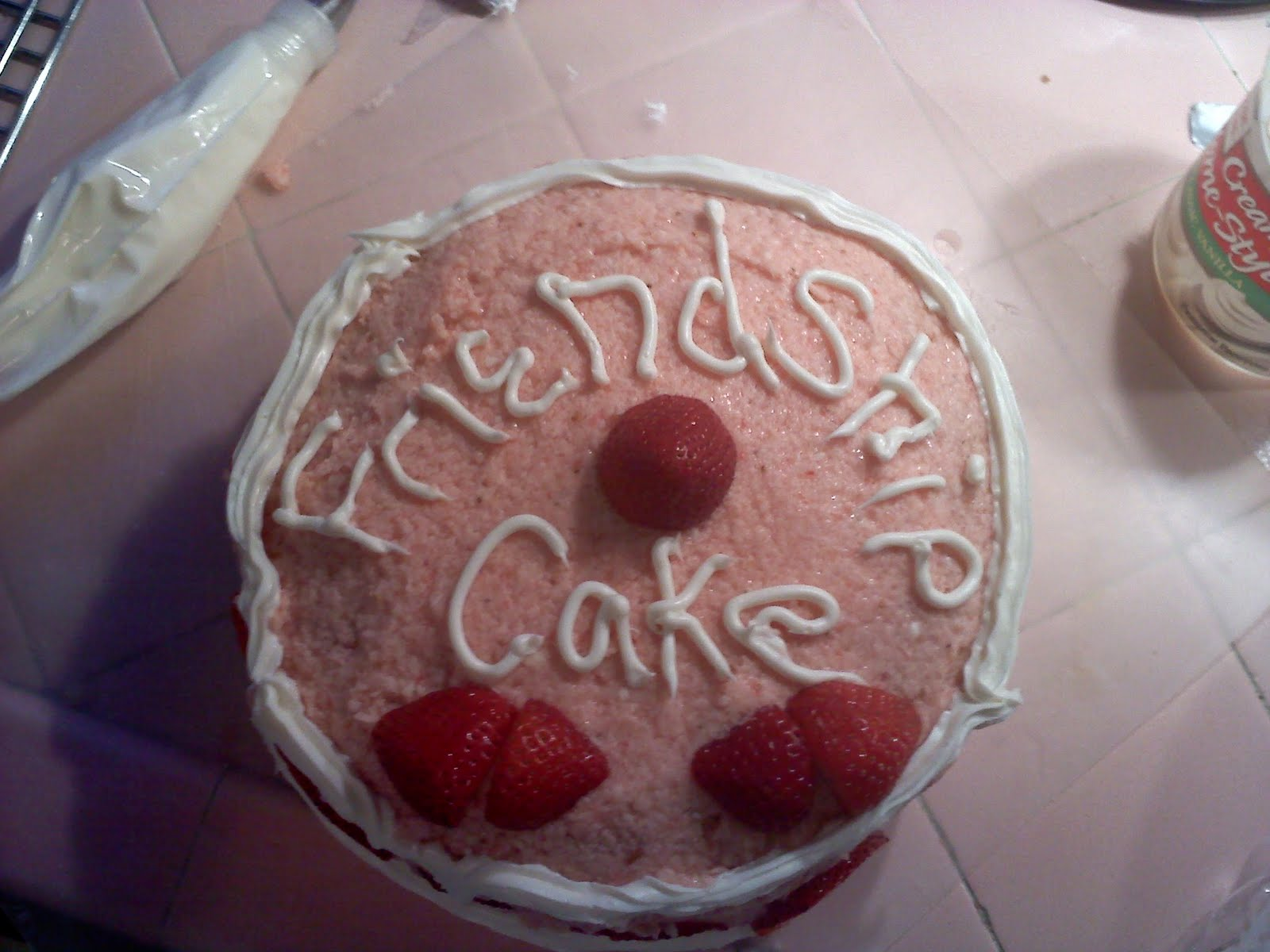 Red Licorice Friendship Cake