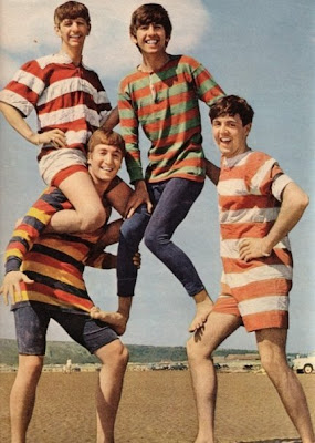 John, Paul, George, and Ringo on the Beach