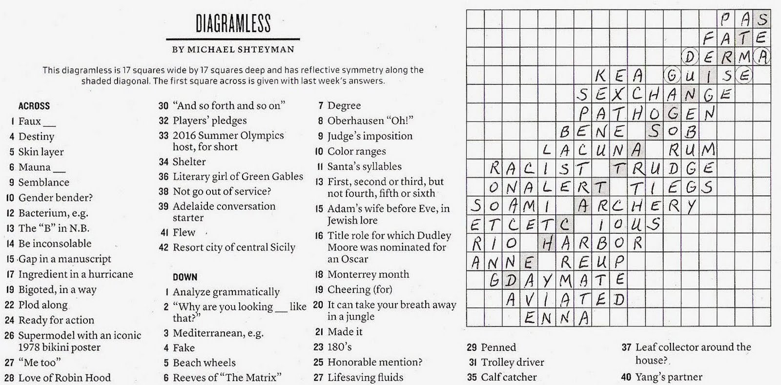 The New York Times Crossword In Gothic 06 13 10