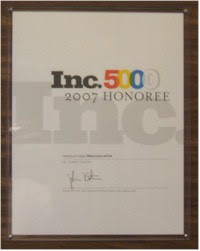 Congratulations from Inc. Magazine