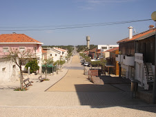Centro virado para a entrada da Praia da Tocha, e estrada ao fundo