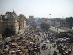 View of Hyderabad city from the historic Charminar.