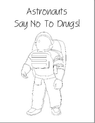 Say No To Drugs Kindergarten Coloring Coloring Pages