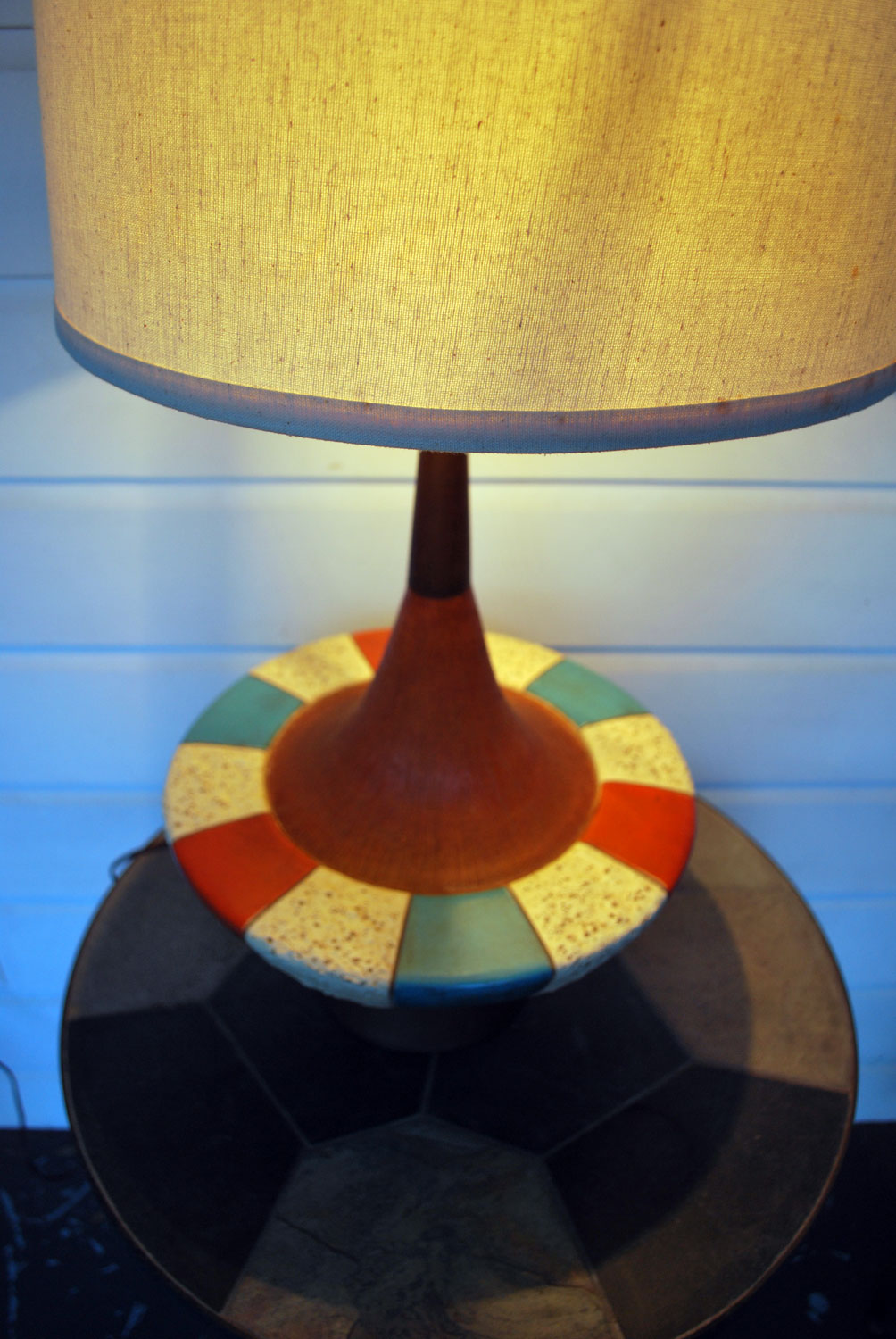Junk2funk Mid Century Modern Pottery Fortune Lamp Company