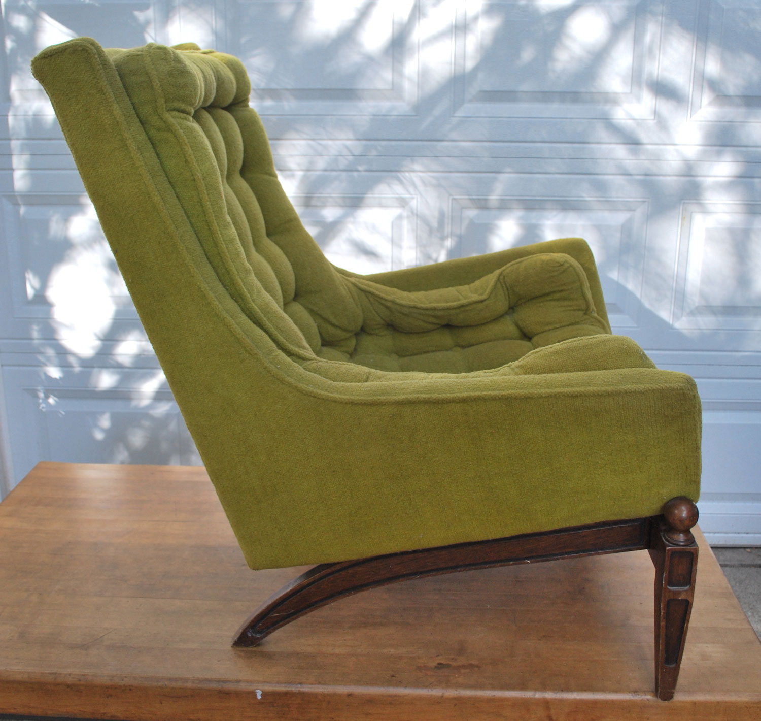 junk2funk Vintage Olive Green Chair