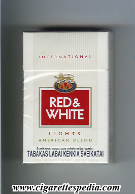 a895a929f6 Red & White (with square) (International / American Blend / Lights) /KS-20-H/  - Lithuania