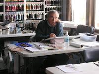 Photo of John Mangels in Roland Lee watercolor painting workshop