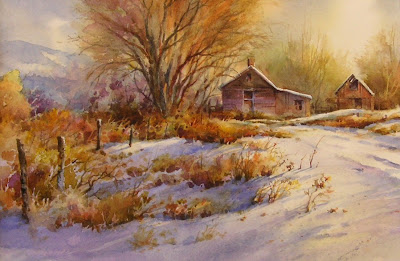 watercolor demonstration painting by Roland Lee
