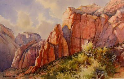 painting of Zion National Park, Sandstone Towers