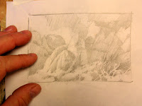Thumbnail sketch for Sandstone Towers painting of Zion National Park